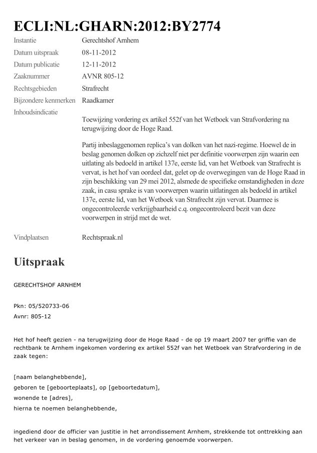 Nazidolken-arrest klik hier