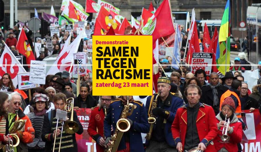 Brede coalitie op 23 maart de straat op tegen racisme