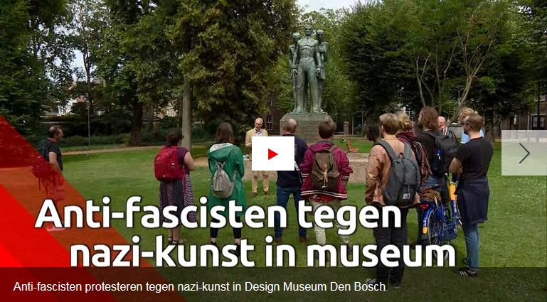 Protest tegen nazi-kunst in Design Museum Den Bosch: 'Geen nazi-propaganda in museum'